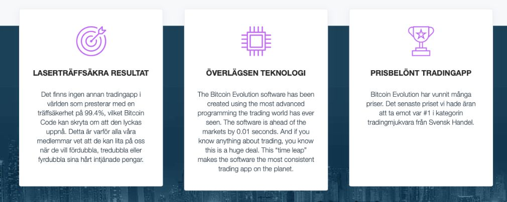 Bitcoin Evolution fördelar